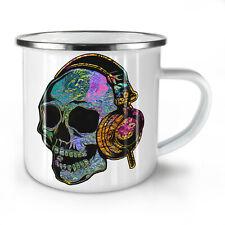 Skull Headphone Music NEW Enamel Tea Mug 10 oz | Wellcoda