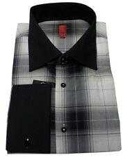 Chemise MGB noir beige HOMME taille 46 slim fit habillé costume xxl qualité NEUF