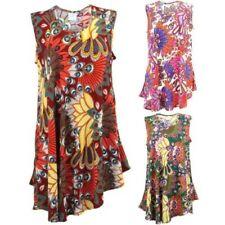 Swing Dress Women Tropical Hawaiian Print Party Smock Floaty Loud Siesta