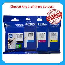 Any 1x Brother Genuine LC3317 BK/C/M/Y/SET Ink Cartridge-> 5330DW/5730DW/530DW