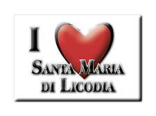 CALAMITA SICILIA FRIDGE MAGNETE SOUVENIR I LOVE SANTA MARIA DI LICODIA (CT)
