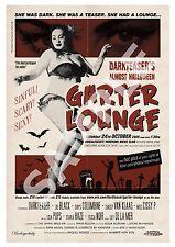 Garter Lounge (5) , Retro Burlesque  advertising Poster reproduction.