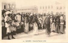 CARTE POSTALE AFRIQUE DJIBOUTI DANSE DES FEMMES VOILEES