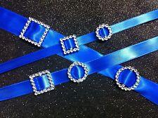 Diamante Effect Silver Ribbon Buckle Sliders,Bras,Gifts,Wedding Invitation cards