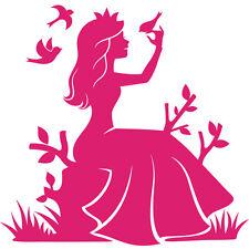 Sticker Geant XXL, Princesse dans la nature avec les oiseaux, 35 à 60cm (PRI007)