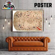 POSTER MAPPA  MAP  PORTOLANO OLD CARTA FOTOGRAFICA QUALITA' 35x50 50x70 70x100