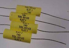 Folienkondensator axial 470 nf-160 V + 220 nf-160 V nach TGL 55163 ab 25 Stück