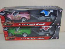 4X4 QUAD & trailer.toy. 2 SERIE a scegliere from.new in box.great regalo di Natale