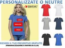 100/%C T-Shirt ST9320 STEDMAN Donna Organic Slub