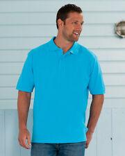 Russell Hombre Algodón Clásico Polo Camiseta (J569M) 16 Colores Tallas XS-4XL