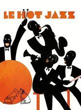 années 1920 affiche A1/A2/A3 impression de Jazz Français HMV