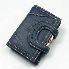 Women Short Wallet Genuine Cowhide Leather Mini Clutch Design Lady Solid Purse