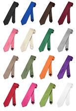 """Vesuvio Napoli NeckTie Vertical STRIPES Solid Colors SKINNY 2.5"""" Men's Neck Tie"""