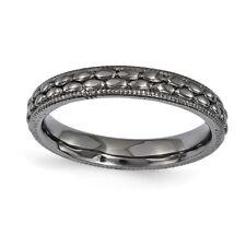 925 Sterling Silver Oval Bead Pattern Milgrain Ring