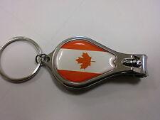 BANDIERA CANADESE sulla NAIL CLIPPER con file & Apribottiglie e PORTACHIAVI Canada