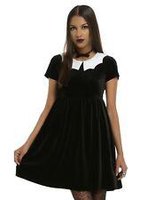 IRON FIST x Ash Costello Bat Royalty Collar Velvet Dress RARE NWT Ladies Womens