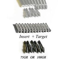 12PCS Archery Arrow Target Point Broadhead + Insert for Bow ID6.2 Shaft Hunting