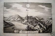 Grein Donau Österreich alter Merian Kupferstich 1649
