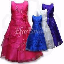 Blumenmädchen Kleid Abendkleid Kommunions Hochzeit Festkleid Vintage Kleider