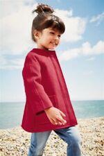 BNWT NEXT Girls Red Collarless Winter Coat Jacket 2-3 Years RRP £32