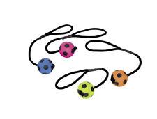 Moosgummi Fußball mit Seil  Hundespielzeug 2 Größen