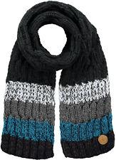 Barts Scarf Winter Scarf Knit Scarf Black Wilhelm Stripes Warming