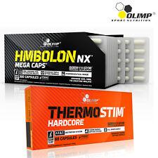 HMBOLON + THERMO STIM HARDCORE - Fat Loss - Lean Muscle Build Gain - Fat Burner