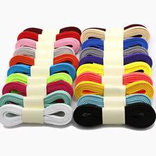 Flat double Hollow casual Shoe Laces Shoelaces 8mm Wide/100-160cm Lengths thick