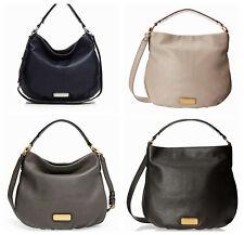 NWT Marc Jacobs New Q Hillier Hobo Shoulder Bag Black Blue Gray Cement AUTHENTIC