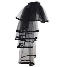 Gothic Victorian Dress Gown Bustle Black Tutu Skirt Underskirt Costume Petticoat