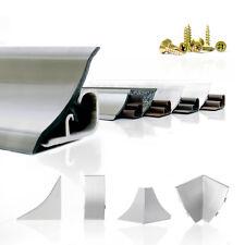 ABSCHLUSSLEISTE 150cm – 300cm Winkelleisten Küche Wandabschlussleisten 23mm