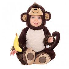 Niña Niño Bebé Niño Mono Alrededor Disfraz & Banana Sonajero