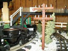 O SCALE RAILROAD TELEPHONE POLES - Set of 6 / Trains / Model Railroad Scenery