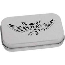 'Owl Symbol' Metal Hinged Tin / Storage Box (TT018937)