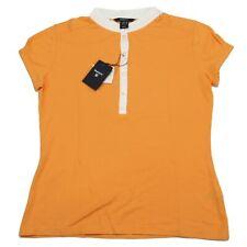 A0407 polo manica corta GANT arancione maglia donna t-shirt woman
