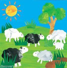 Grazing Sheep Childrens Bedroom Canvas Wall Art Poster Print Farm Animals