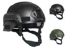 Mil-Tec US Gefechtshelm MICH 2000 W/RAIL Schutzhelm Kunststoffhelm Helm Army