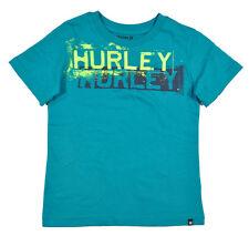 Hurley Big Boys S/S Vista Blue & Neon Fashion Top Size 18/20 $32