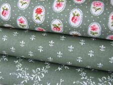 Verde Vintage Floreale multifunzione CAMEO FLEUR cotone materiale-Craft Bunting dress
