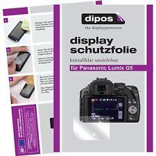 6x dipos Panasonic Lumix DMC G5 klar Displayschutzfolie Crystalclear glänzend