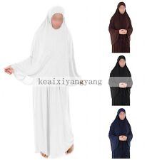 New Women Prayer Set Abaya Jilbab Long Dress Jellaba Islamic Clothes Hijab Skirt