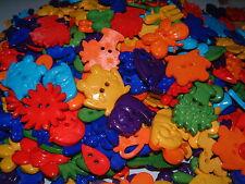 Brillante mixto Jardín Sew thru/through buttons/embellishments-frogs/flowers/bees