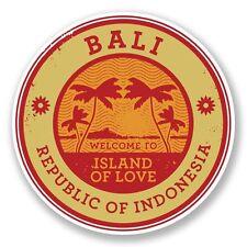 2 X Indonesia Bali Pegatina de vinilo Laptop Viaje Equipaje Coche #6490