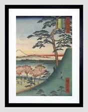 Woodblock giapponese ninja tradizionale HIROSHI BLACK FRAMED ART PRINT b12x3582