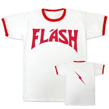 FLASH GORDON Ringer Style Movie T Shirt Retro Ming The Merciless Vintage Movie