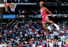 MICHAEL JORDAN - BULLS BASKETBALL - SIGNED SLAM DUNK - HIGH GLOSS PHOTO POSTER