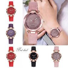 Ladies Women Wrist Watches Quartz Analog Stylish S Steel Leather Fashion Gift Uk