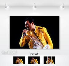 Freddie Mercury - 4 - Quadro stampa su Tela Pelle Canvas Dipinto Arte Moderna