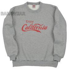 Enjoy California Crew Neck Sweat Shirt Gray Coke Coca Cola Cali BABA Fore