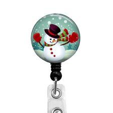 Christmas Snowman Badge Reel Retractable Badge Holder, 316D